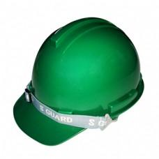 หมวกนิรภัย S-GUARD มีรองในปรับหมุน ABS (มอก) สีเขียว