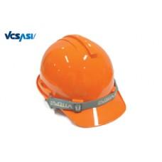 หมวกนิรภัย S-GUARD มีรองในปรับหมุน ABS (มอก) สีส้ม