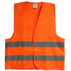 เสื้อกั๊กจราจรสีส้ม รุ่น NFS ติดแถบสะท้อนแสง 4 แถบ #XL (แพ็ค 3 ตัว)